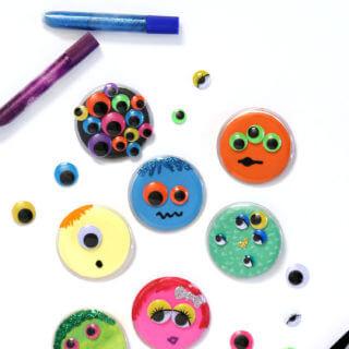 Monster Buttons – Kids Halloween Craft Idea