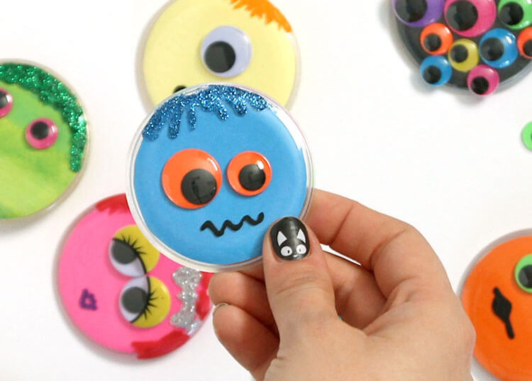 Button Monster Kids Craft