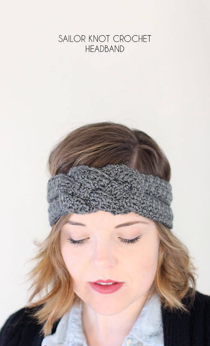Sailor Knot Crochet Headband - Free Pattern
