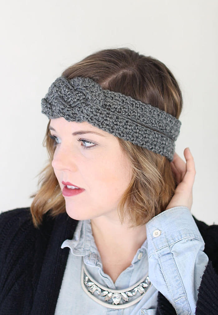 Free Crochet Pattern For Knotted Headband : Sailor Knot Crochet Headband - Free Pattern - Persia Lou