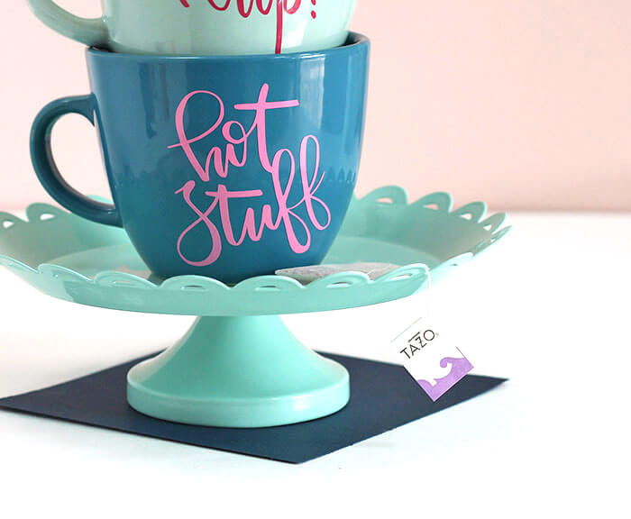 personalized DIY mugs with yummy tazo tea