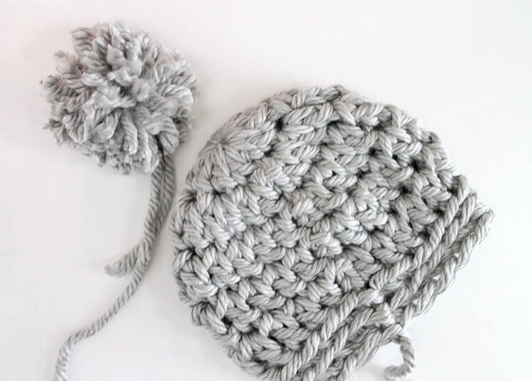 30 Minute Easy Chunky Crochet Beanie - Persia Lou 3d3291a2783