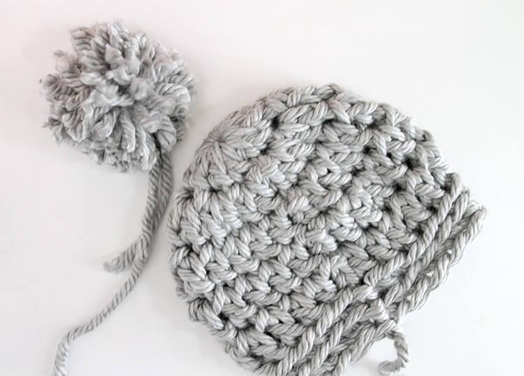 30 Minute Easy Chunky Crochet Beanie Persia Lou