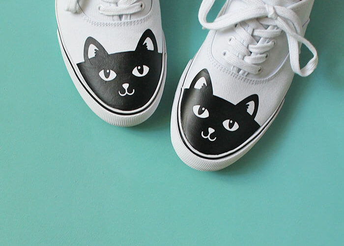 DIY Cat Shoes: How to Add Heat Transfer Vinyl to Shoes
