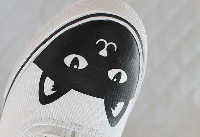 fabric-texure diy cat shoes