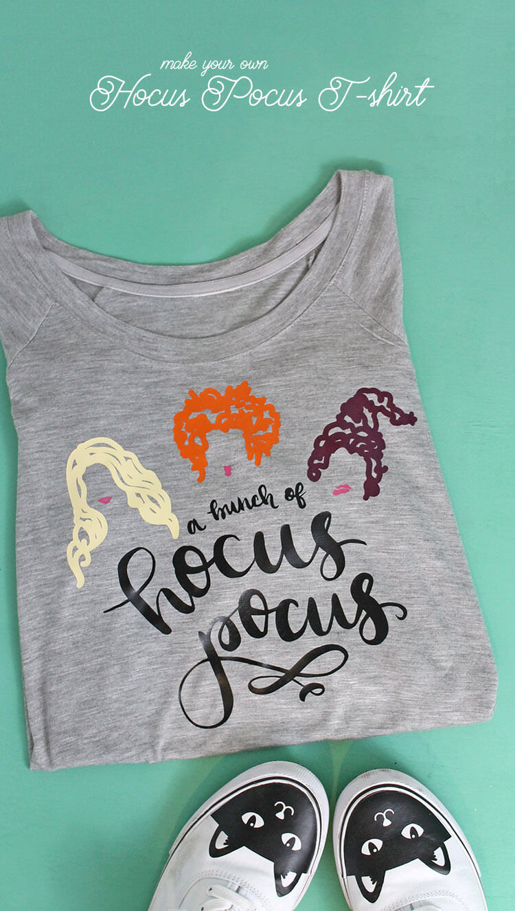 DIY Hocus Pocus T-Shirt - learn how to make your own custom Halloween tee with heat transfer vinyl and your Silhouette