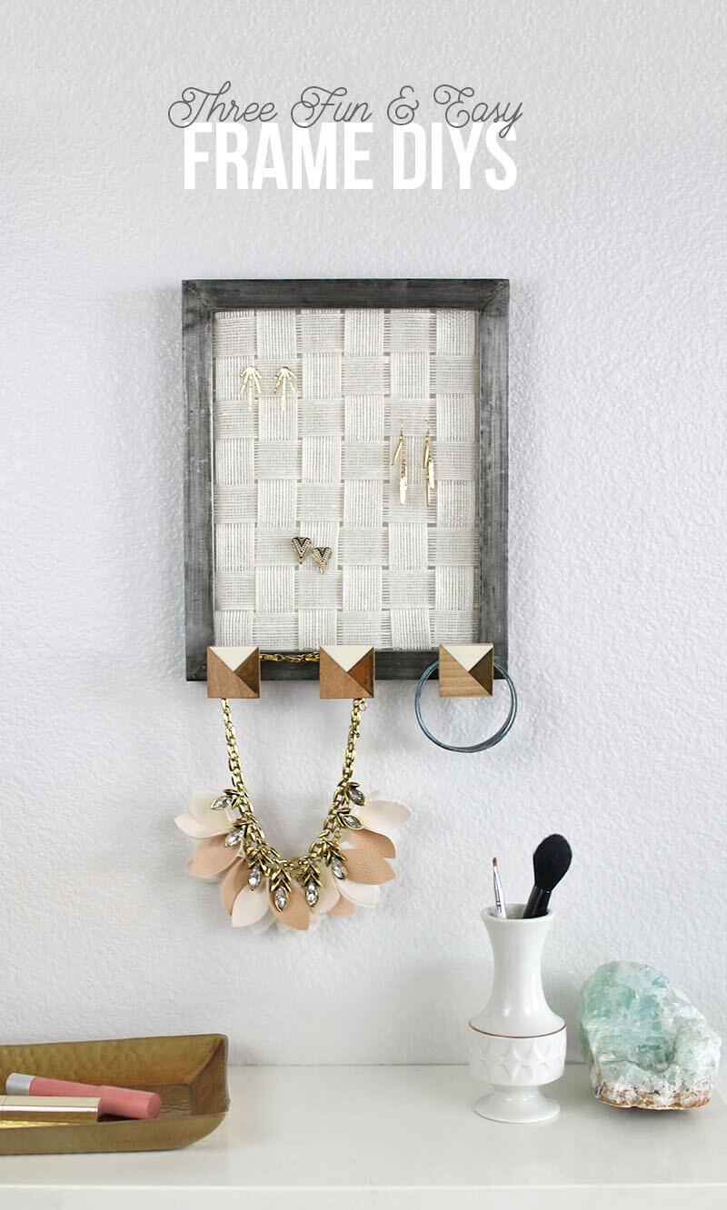 Three Fun and Easy Frame DIYs - transform your frames into useful home decor pieces