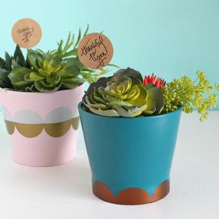 Easy DIY Modern Planter and Hostess Gift Idea