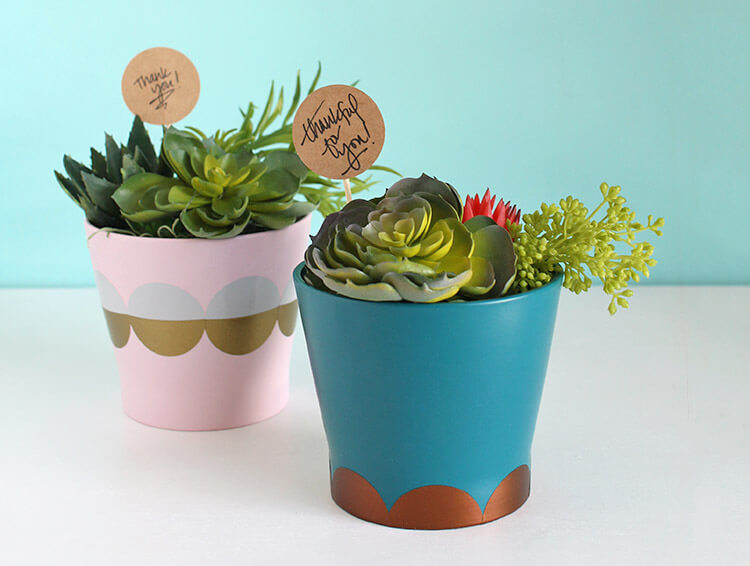 Easy DIY Modern Planter and Hostess Gift Idea