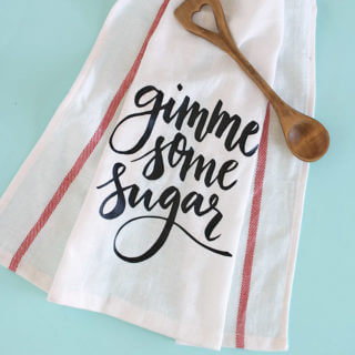 Gimme Some Sugar DIY Dish Cloth Gift and Cameo 3 Giveaway
