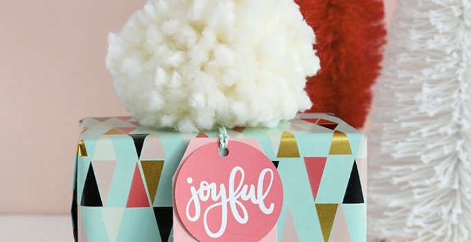 Hand Lettered Free Printable Christmas Gift Tags