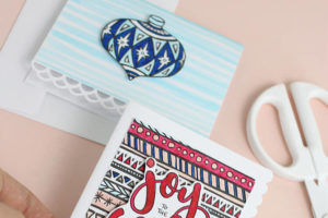 Coloring Page Christmas Cards at Crafts Unleashed