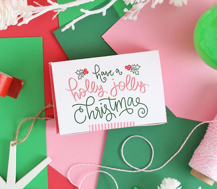 Simple Christmas Gift Idea: Free Printable Gift Card Box
