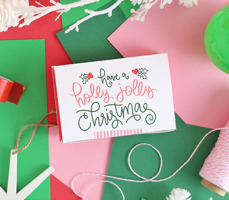 printable gift card box holidays
