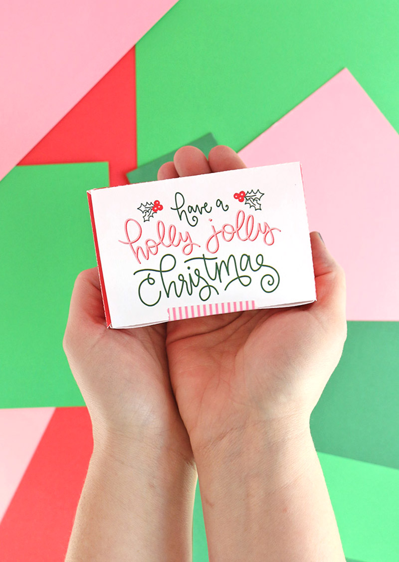 printable gift card box
