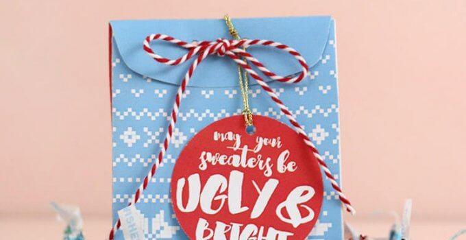 Christmas Sweater Treat Box – Free Printable