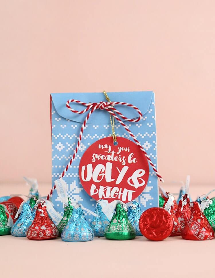 Christmas sweater treat box free printable persia lou