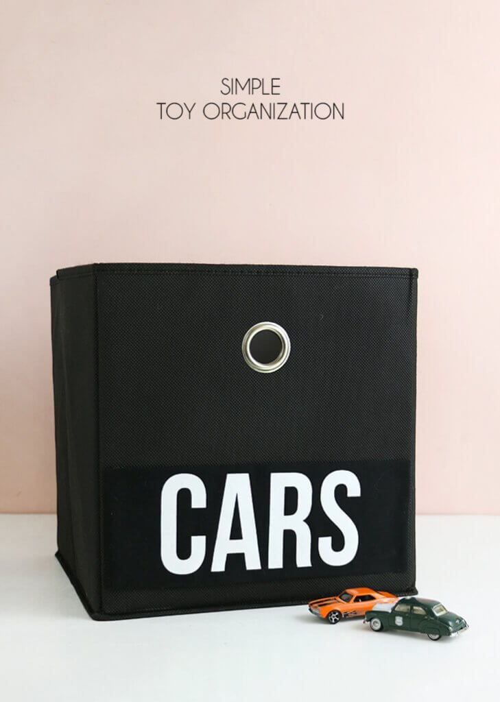 Simple Toy Organization with Heat Transfer Vinyl