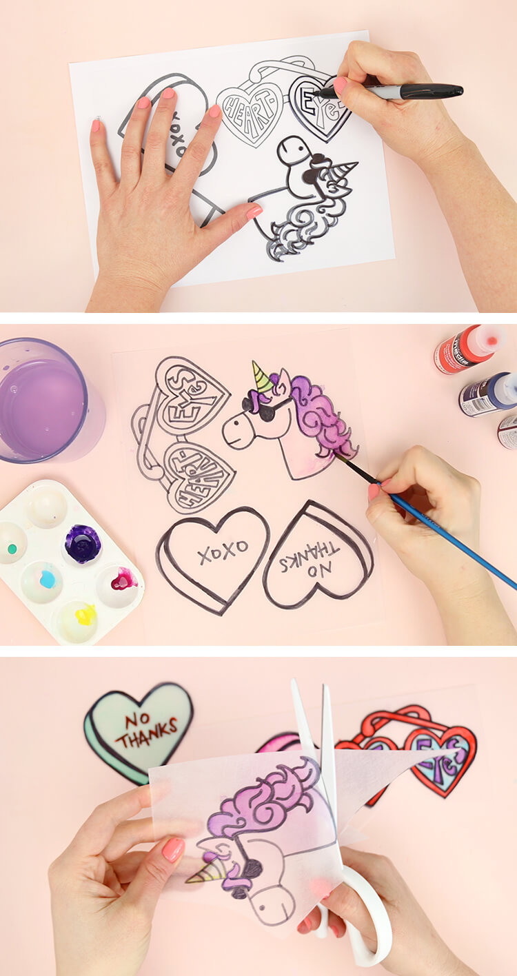 how to make pins - draw and paint