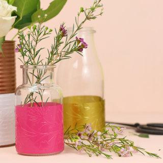 DIY Embossed Vases at Consumer Crafts