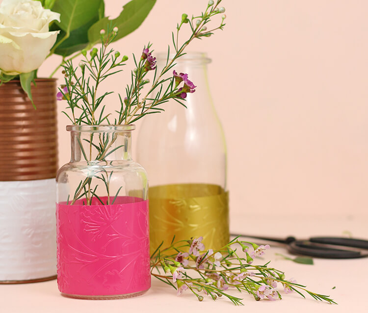 DIY Embossed Vases at Consumer Crafts