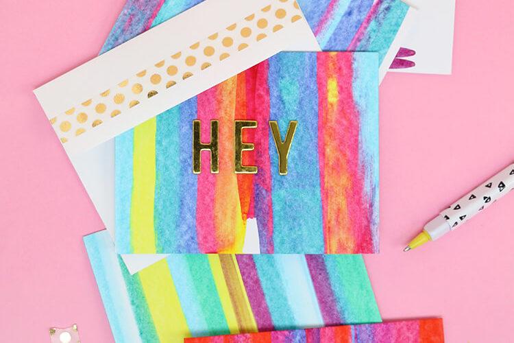 Paint Scrape Notecards – DIY Art Project Idea