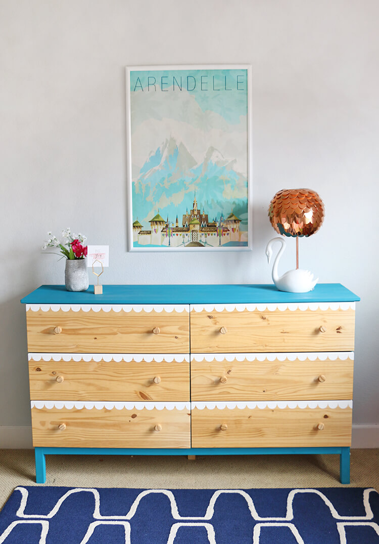DIY scalloped dresser