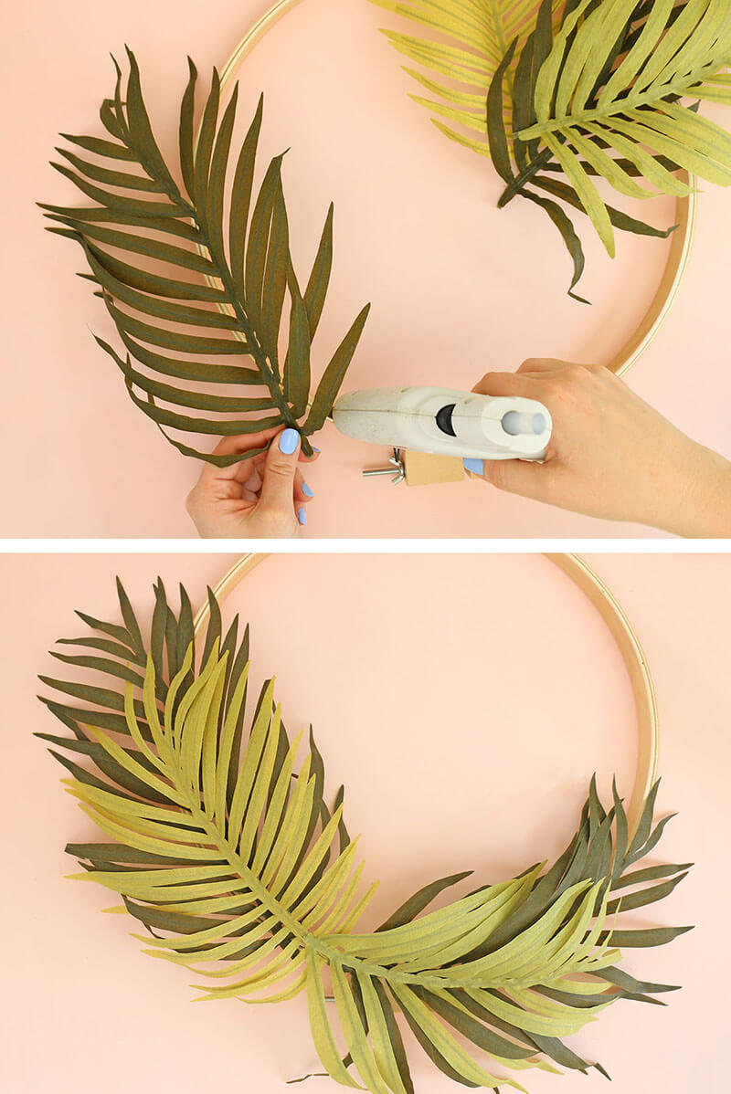 DIY Modern Spring Wreath Step One