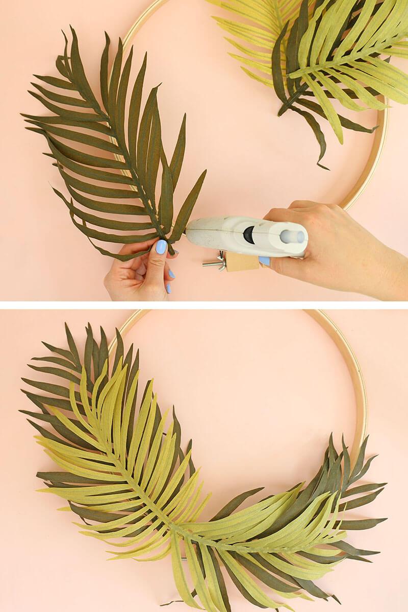 DIY Modern Spring Wreath Step One