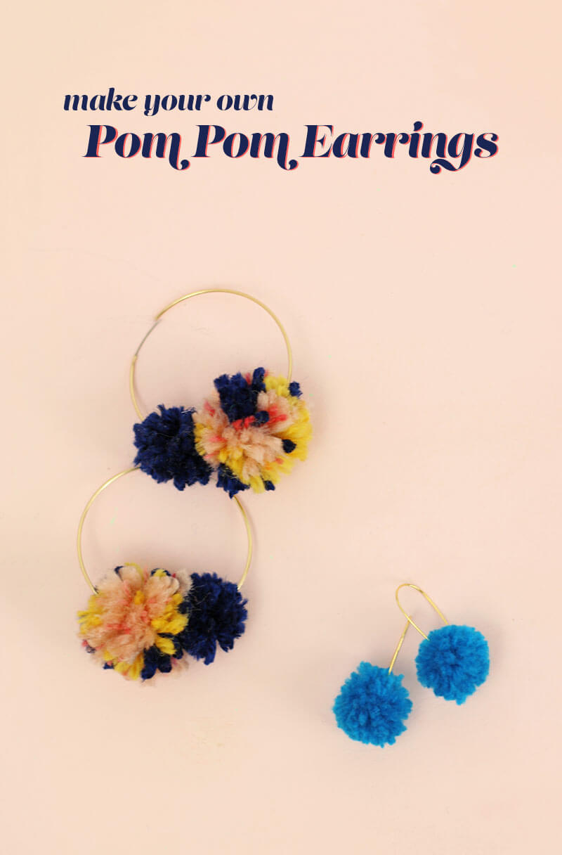 Make Your Own Diy Pom Pom Earrings Persia Lou