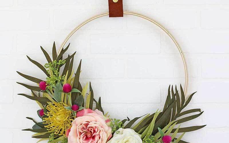 Make Your Own DIY Modern Spring Wreath