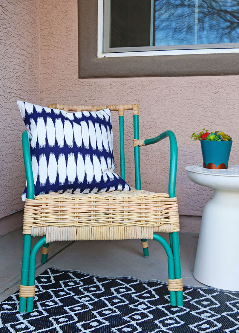 Simple Patio Chair Upgrade Painted Rattan Chairs Persia Lou