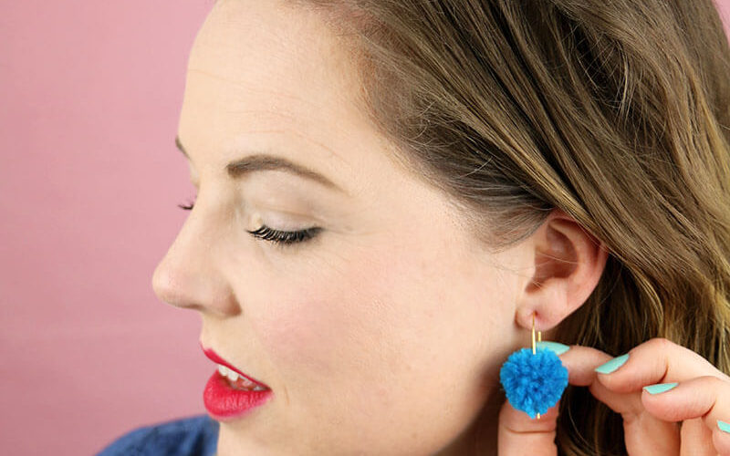 Make Your Own DIY Pom Pom Earrings