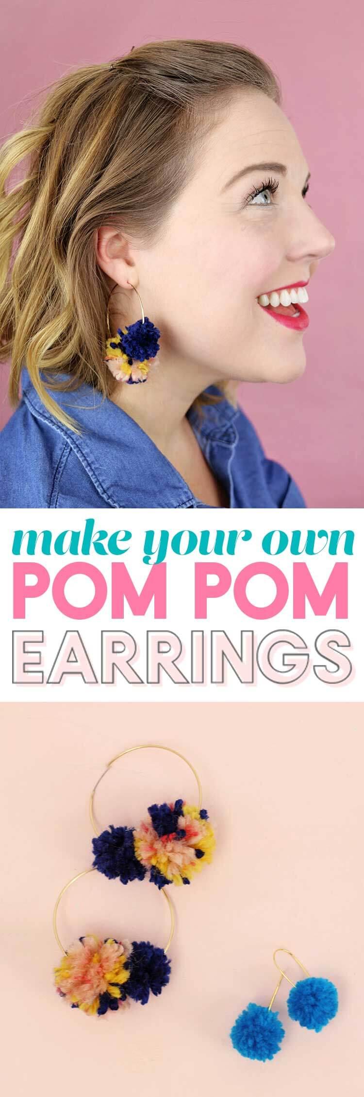 Make your own DIY Pom Pom Earrings - video tutorial