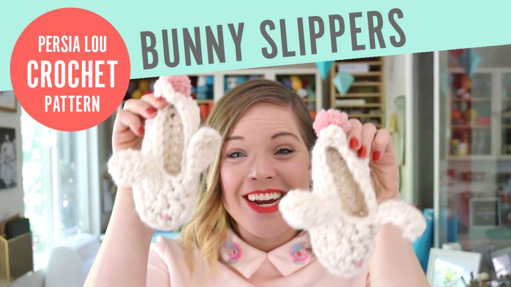 Crochet Bunny Slippers Video Tutorial
