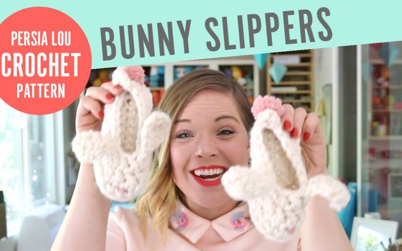 Crochet Bunny Slippers Video Tutorial