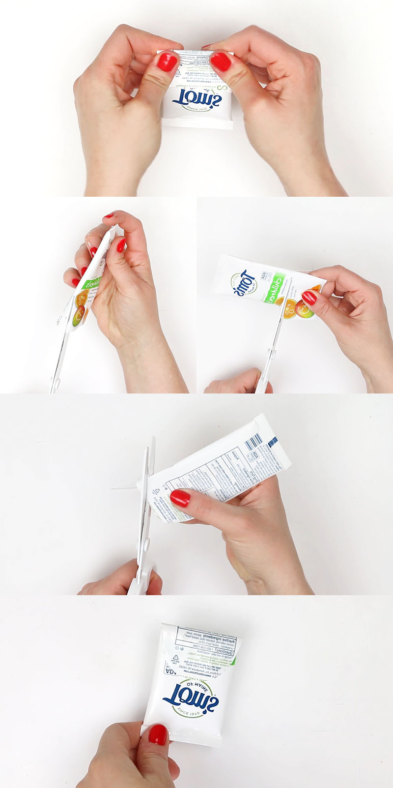 fold and cut - recycled craft idea