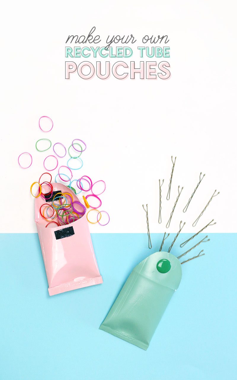 Recycled Craft Idea: DIY Mini Pouches