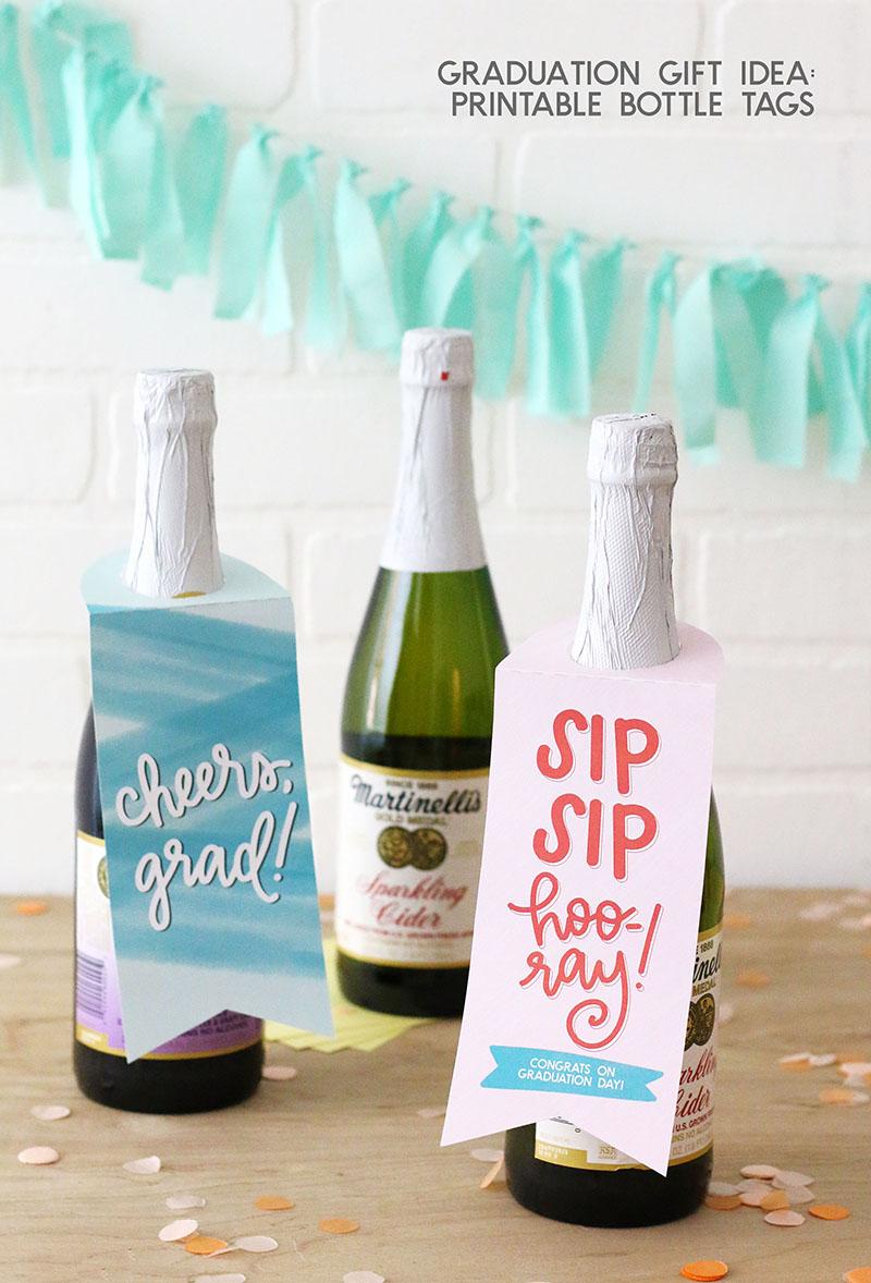 grad gift idea printable bottle tags persia lou