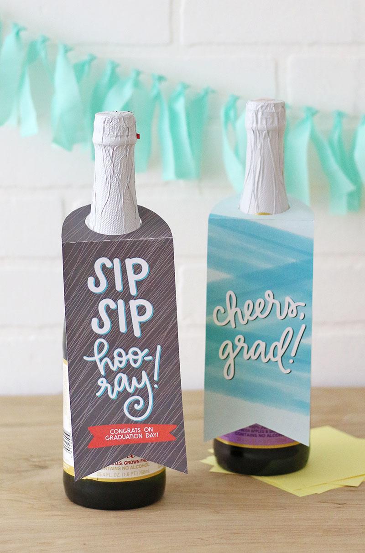 graduation gift idea - printable bottle tags