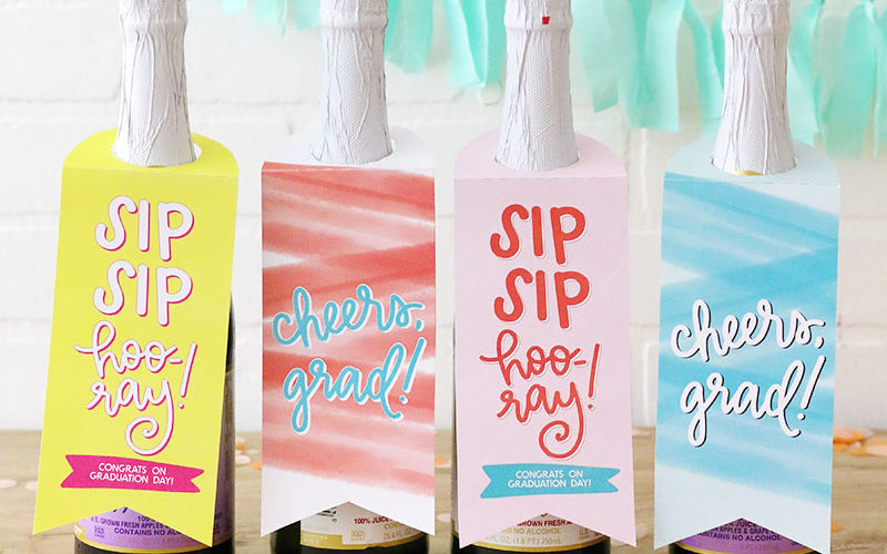 Grad Gift Idea: Printable Bottle Tags