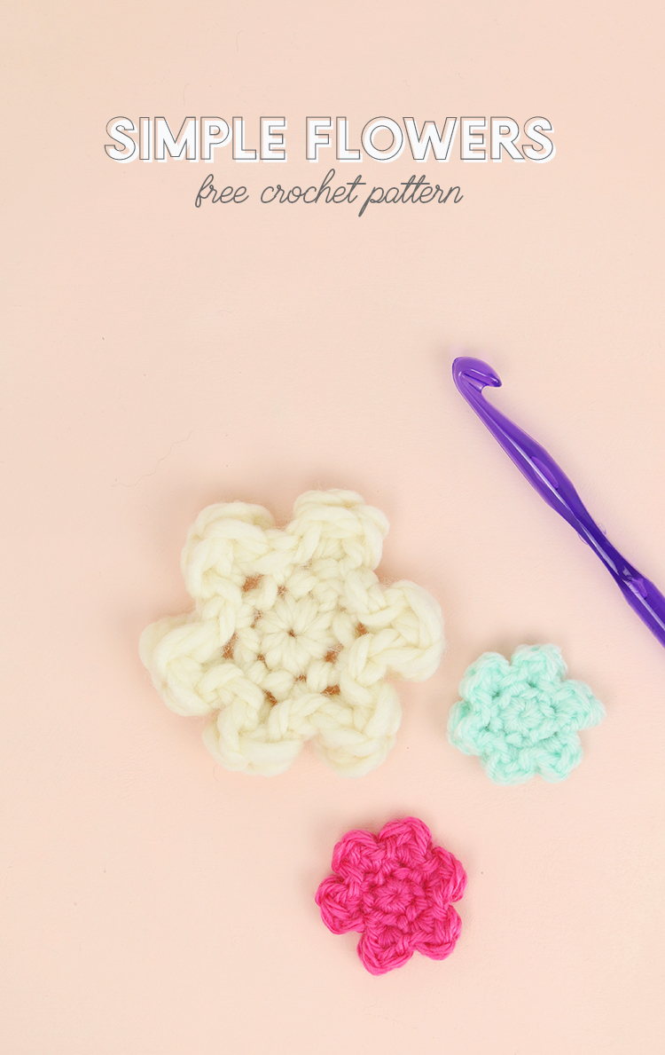 How to Crochet Flowers - Small, Simple Flower Pattern - Persia Lou