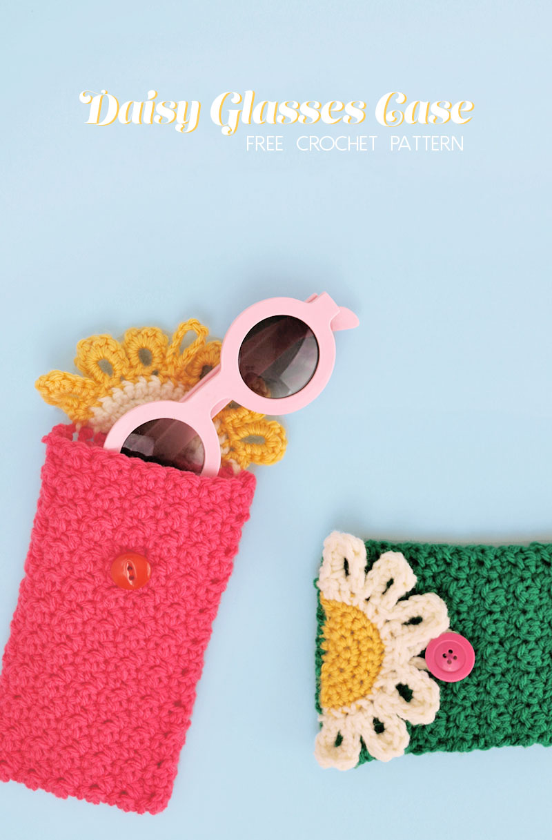 The happy daisy crochet glasses pouch free pattern persia lou happy daisy crochet glasses pouch free crochet pattern keep your glasses or sunglasses safe izmirmasajfo