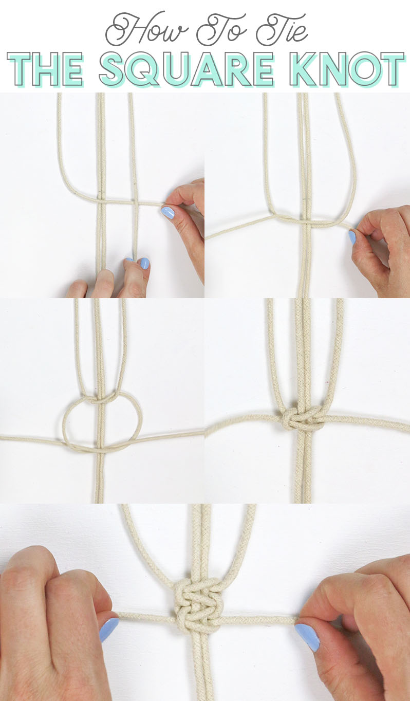 how to tie the macrame square knot