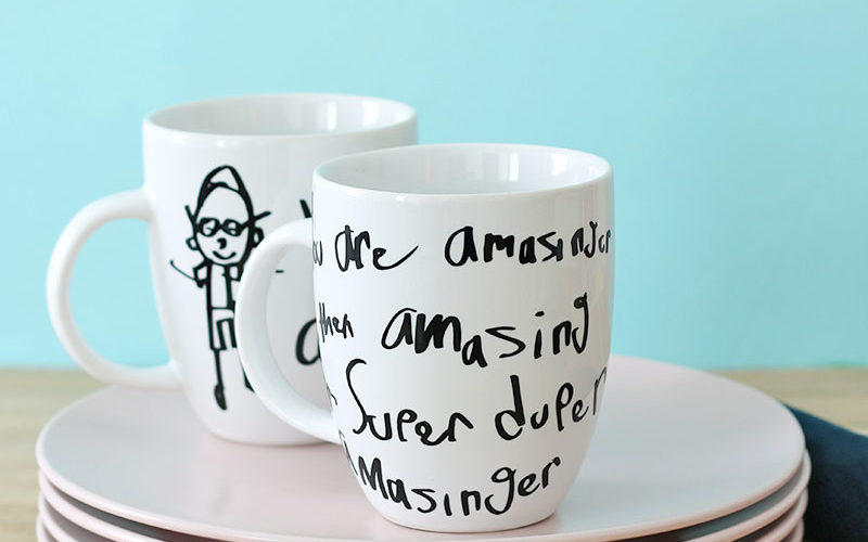 DIY Father's Day Gift Idea: Custom Kid's Artwork Mug