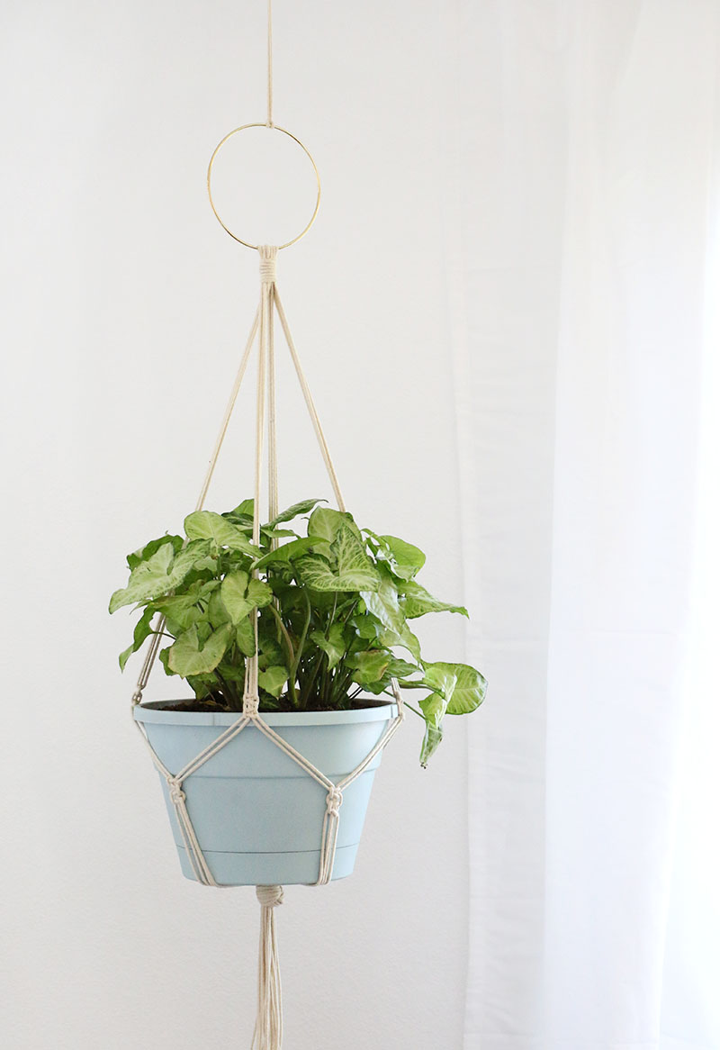 diy macrame hanging planter simple diy macrame plant hanger lou 6552