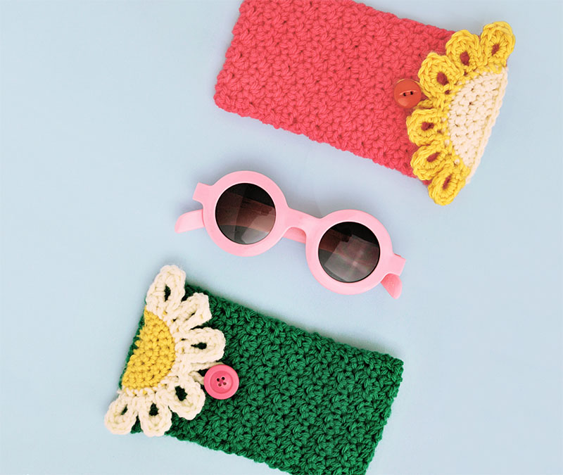 crochet sunglass pouches