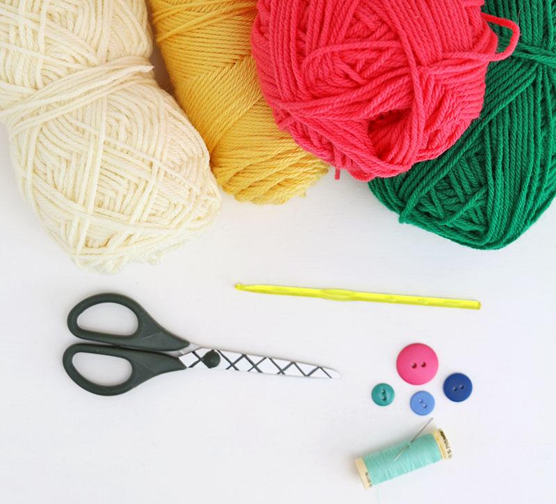 crochet glasses pouch supplies