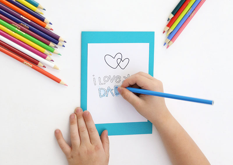 Fathers Day Coloring Cards