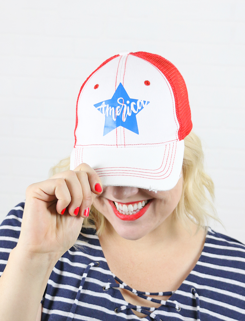 fourth of july cap - free patriotic cut files